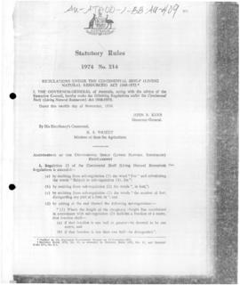 Statutory Rules 1974 No. 214, Amendment of the Continental Shelf (Living Natural Resources) Regulations