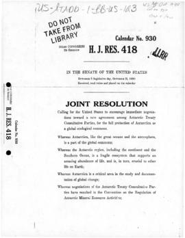 United States Senate, Joint Resolution HJR 418