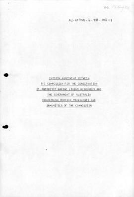 "[Draft] ""Interim agreement between the Commission for the Conservation of Antarctic Marine L..."