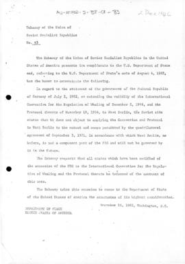 Documents concerning the International Convention on the Regulation of Whaling, 1946