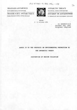 Eleventh Special Antarctic Treaty Consultative Meeting, fourth session (Madrid), working paper. X...