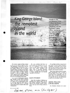 King George Island: the remotest island in the world