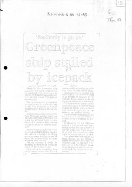 Press articles concerning Greenpeace expedition