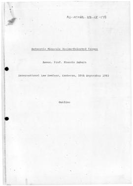 "Francis Auburn ""Antarctic minerals regime - selected issues"" International Law Seminar,..."
