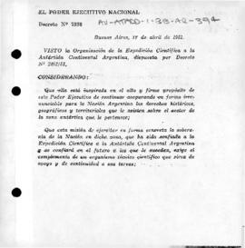 Argentina, Decree 7338 establishing the Argentine Antarctic Institute