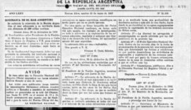 Argentina, Decree no. 17,094 concerning the territorial sea and contiguous zone
