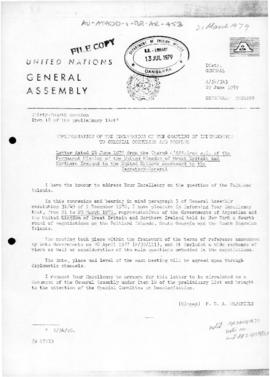 United Nations General Assembly, letter from United Kingdom, concerning negotiations with Argentina over the Falkland Islands, South Georgia and South Sandwich Islands
