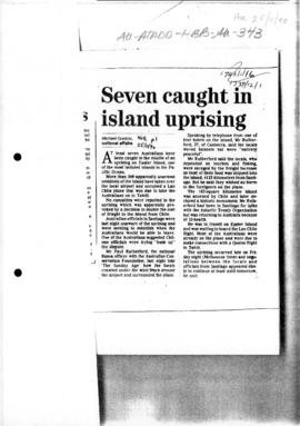 "Gordon, Michael ""Seven caught in island uprising"" The Age"