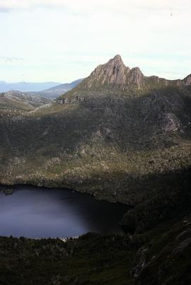 View of Little Horn of Cradle Mountain and Dove Lake