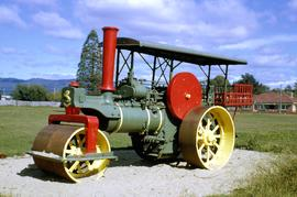 Aveling & Porter steam roller at Latrobe playground 1966