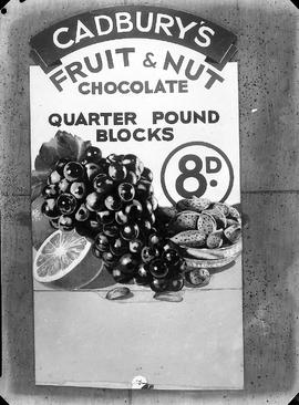 Advertisement for Cadbury's Fruit & Nut Chocolate