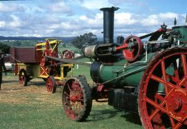 Baling with Birdsall traction engine at Launceston