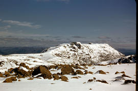 Mount Field West under snow as viewed from Rodway Range