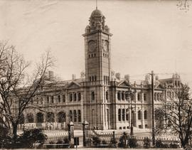 Hobart GPO before installation of clock in tower