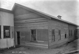 New weatherboard building at E.Z. Co. Zinc Works