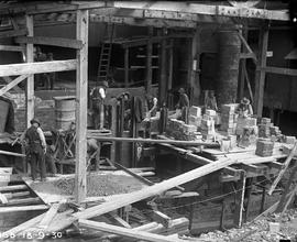 Construction of furnace at E.Z. Co. Zinc Works