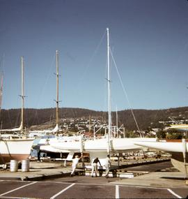 Yachts at the Royal Yacht Club of Tasmania