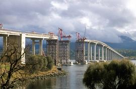 Repair work on Tasman Bridge continues