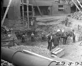 Excavation for Derwent Prime furnace at E.Z. Co. Zinc Works