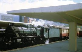 C class locomotive at Hobart Station platform