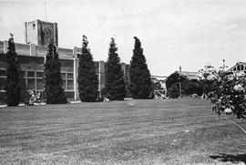 Lawn and Clock Tower, Cadbury Factory