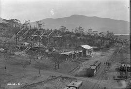 Framework of roasting division building at E.Z. Co. Zinc Works at Risdon