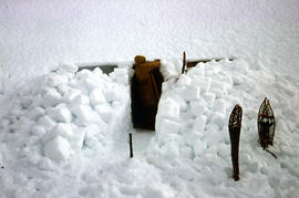Snow cave excavation