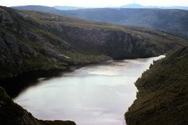 View of Crater Lake, near Cradle Mountain