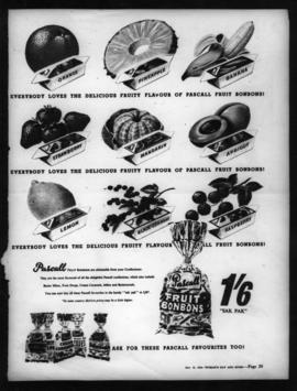 Poster advertising Fruit Bonbons