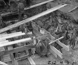 Boxing for foundations of Derwent Prime furnace at E.Z. Co. Zinc Works