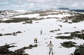 Skiers on Ben Lomond