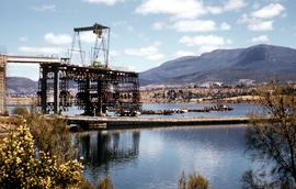 Building Tasman Bridge early 1960s