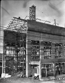 Concrete framework of new building at E.Z. Co. Zinc Works