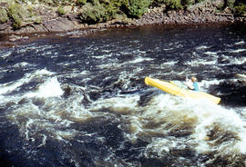 Kayaking in rapids of Derwent River