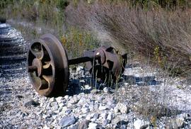 Narrow gauge rail wheels at Crotty
