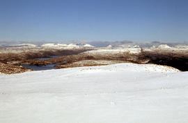 Snow cover at near Walls of Jerusalem looking to Mount Olympus and Mount Gould