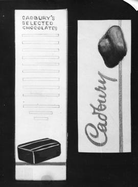 Mock-up advertising for Cadbury chocolate range