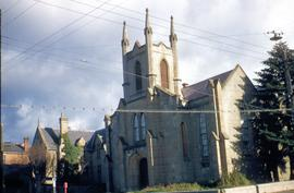 Chalmer's church building in Hobart before demolition