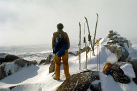 Snow skier on Mt Jerusalem 1978