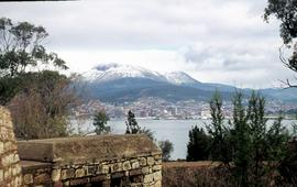 Mount Wellington viewed from Bellerive fort