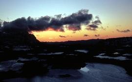 Sunset at Newdegate Pass, 1969