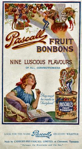 Advertisement for Pascall fruit bonbons
