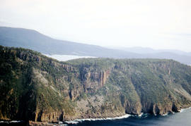 Aerial view of Fluted Cape, South Bruny Island