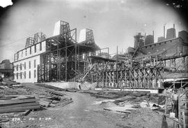 View of construction site uphill at E.Z. Co. Zinc Works at Risdon 1924