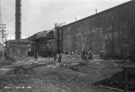 Stone masons and bricklayers at E.Z. Co. Zinc Works at Risdon