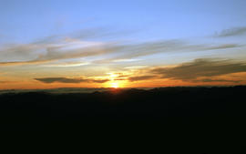 View of sunset from Rodway Range