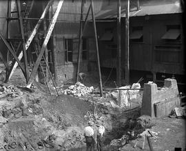 Excavation work for construction of furnace at E.Z. Co. Zinc Works