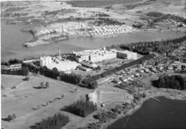 Aerial shot of Chigwell and Cadbury Factory
