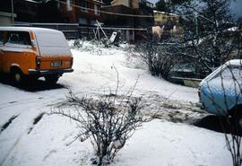 Snow in Lindisfarne 1986