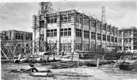 Block 8 Cadbury factory under construction